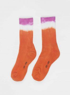 Sea Me Happy Socks tie-dye 14, orange/purple, 35-38