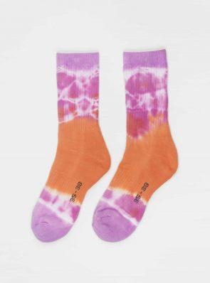 Sea Me Happy Socks tie-dye 15, orange/purple, 35-38