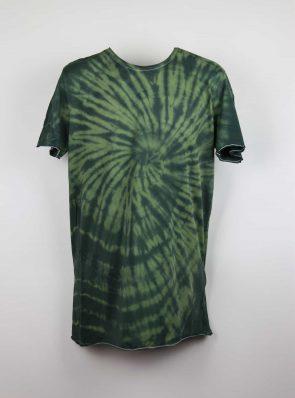 Sea Me Happy, T-shirt dress tie-dye 11, black/khaki