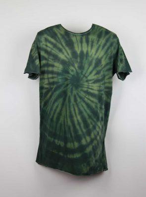 Sea Me Happy, T-shirt dress tie-dye 9, black/khaki