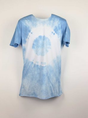 Sea Me Happy, T-shirt dress tie-dye 15, blue