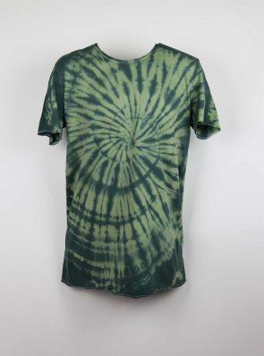 Sea Me Happy, T-shirt dress tie-dye 2, black/khaki