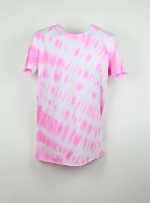 Sea Me Happy, T-shirt dress tie-dye 4, pink