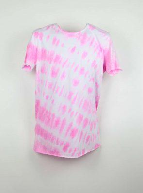 Sea Me Happy, T-shirt dress tie-dye 4, pink