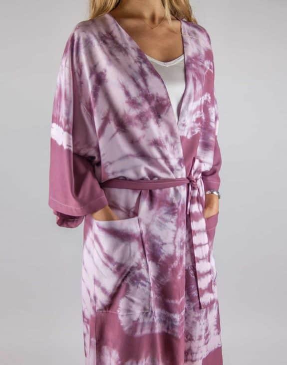 Kimono tie-dye bordeaux, Sea Me Happy