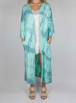 Kimono tie-dye green blue, Sea Me Happy