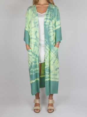 Kimono tie-dye green yellow, Sea Me Happy