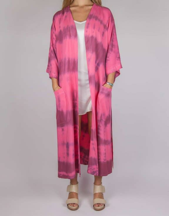 Kimono tie-dye strawberry wine, Sea Me Happy