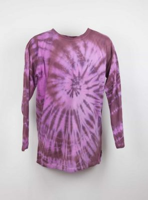 Long sleeve T-shirt tie-dye bordeaux/pink , Sea Me Happy