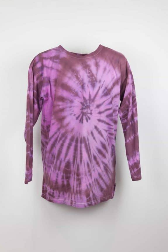 Long sleeve T-shirt tie-dye bordeaux/pink , Sea Me Happy