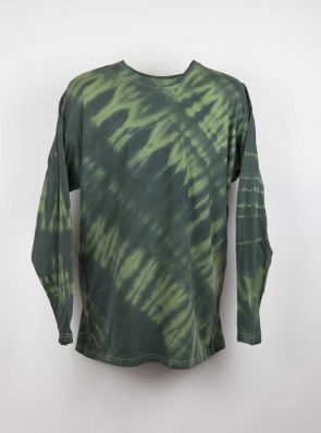 Long sleeve T-shirt tie-dye khaki/black , Sea Me Happy