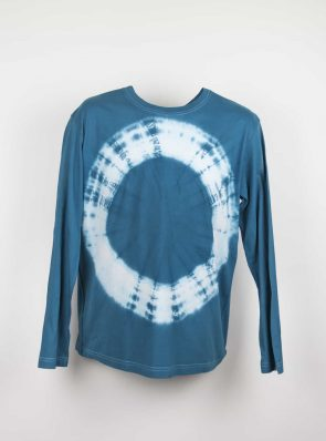 Long sleeve T-shirt tie-dye blue , Sea Me Happy