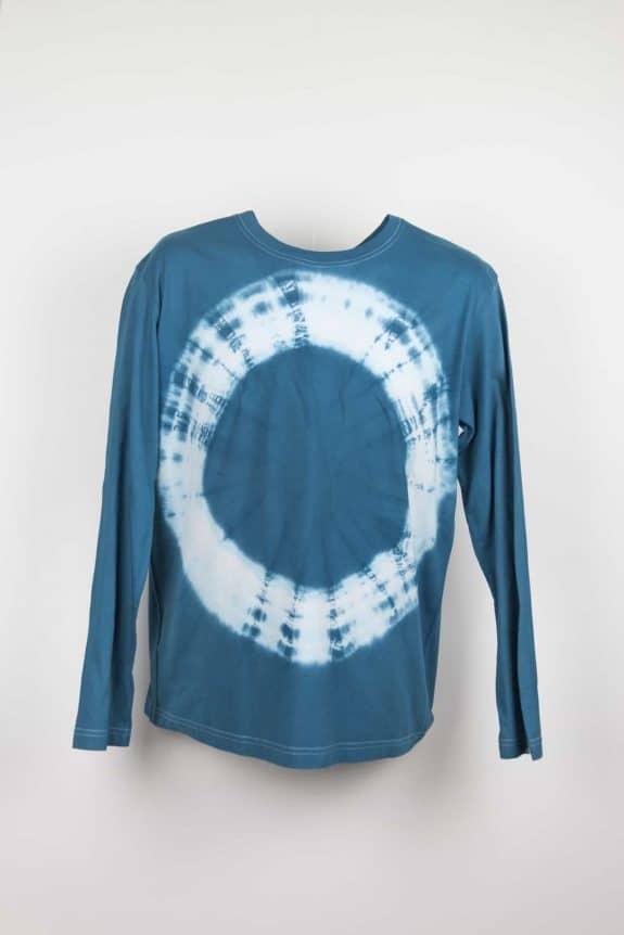 Long sleeve T-shirt tie-dye blue , Sea Me Happy