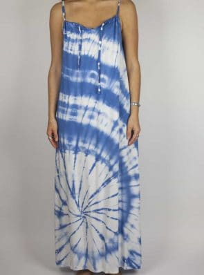 SeaMeHappy tiedye maxi-dress blue-front-MD1