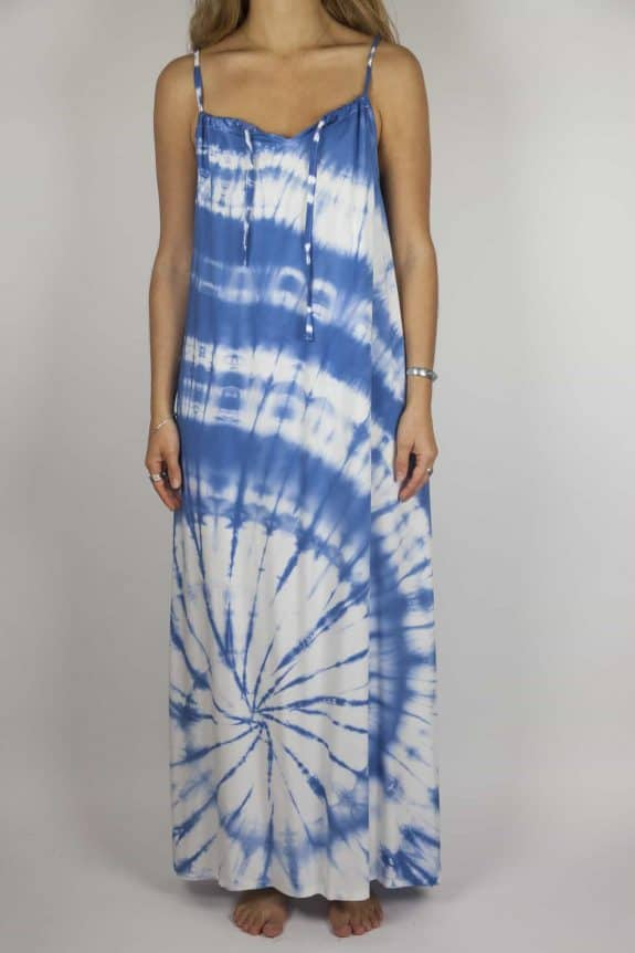 SeaMeHappy tiedye maxi-dress blue-front-MD1