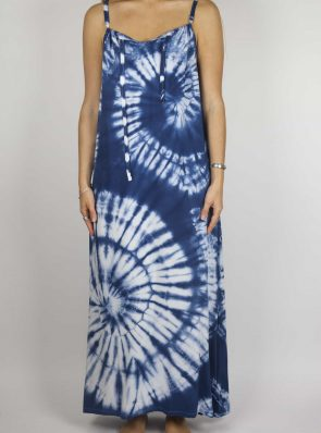 SeaMeHappy Moon dress tie-dye 2 blue front MD2