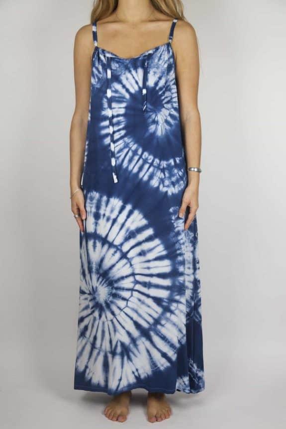SeaMeHappy Moon dress tie-dye 2 blue front MD2