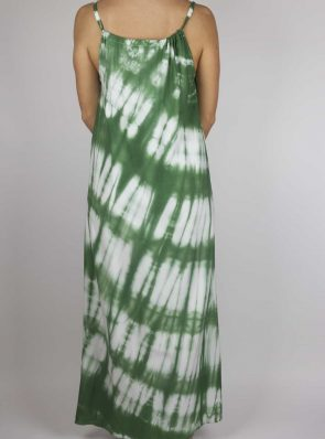 Moon dress tie-dye 5 sea me happy green maxi dress back