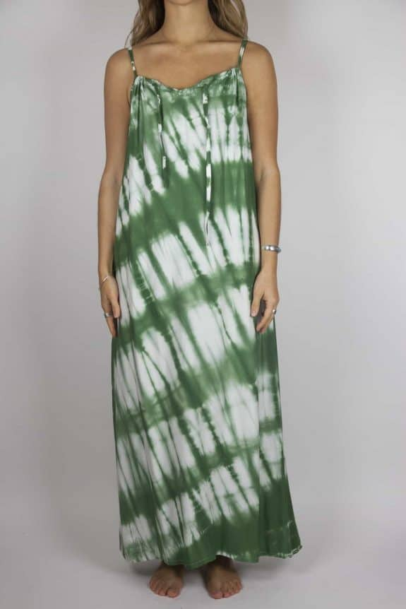 Moon dress tie-dye 5 sea me happy green maxi dress front