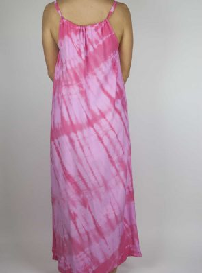 Moon dress tie-dye 8 sea me happy pink maxi dress back