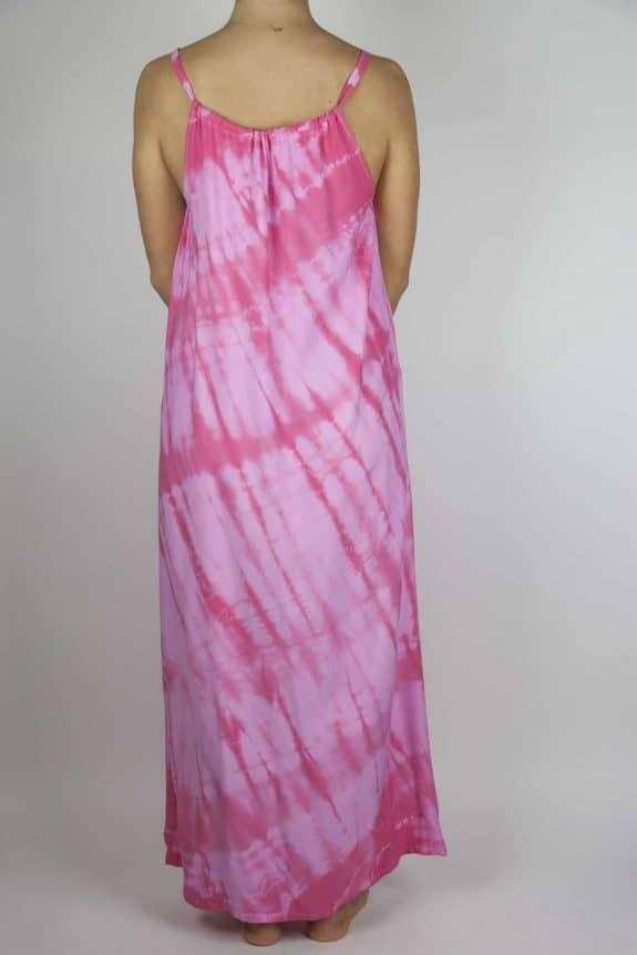 Moon dress tie-dye 8 sea me happy pink maxi dress back