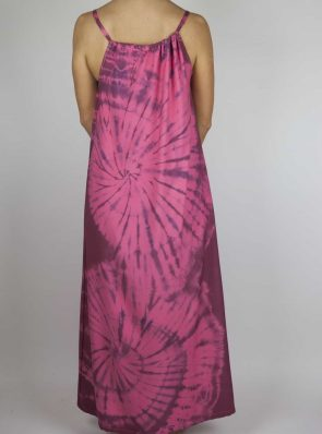 Moon dress tie-dye 11 sea me happy red maxi dress back