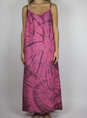 Moon dress tie-dye 11 sea me happy red maxi dress front
