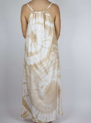Moon dress tie-dye 10 sea me happy sand maxi dress back