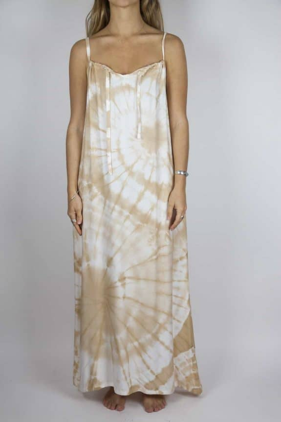 Moon dress tie-dye 10 sea me happy sand maxi dress front