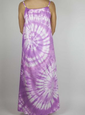 Moon dress tie-dye 6 sea me happy purple maxi dress back