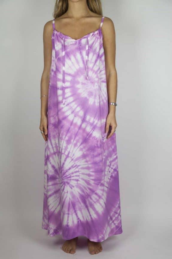 Moon dress tie-dye 6 sea me happy purple maxi dress front