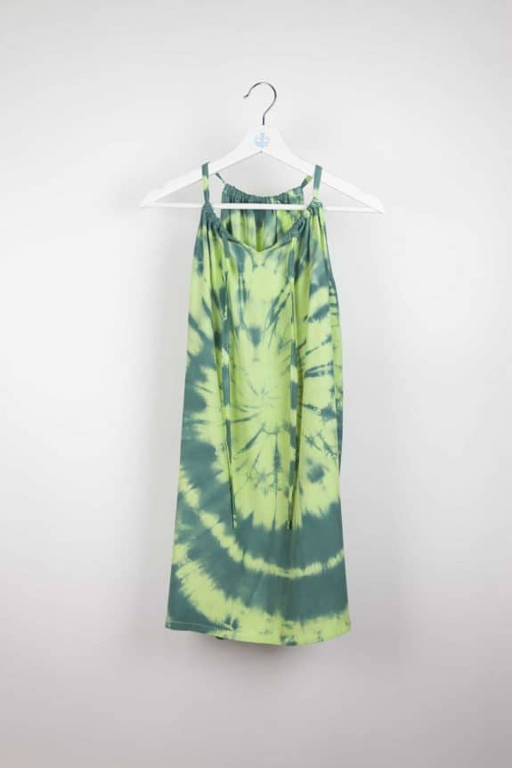 Short Sunshine dress tie-dye 5 green, Sea Me Happy