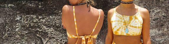 Sea Me Happy yellow/ocre croptop tie-dye