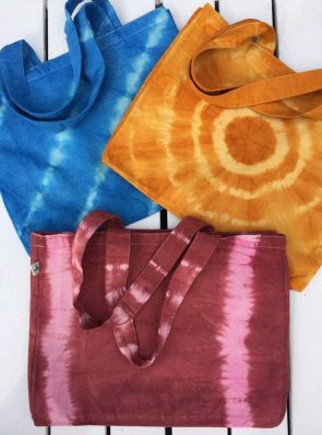 Sea Me Happy beach bag tie dye