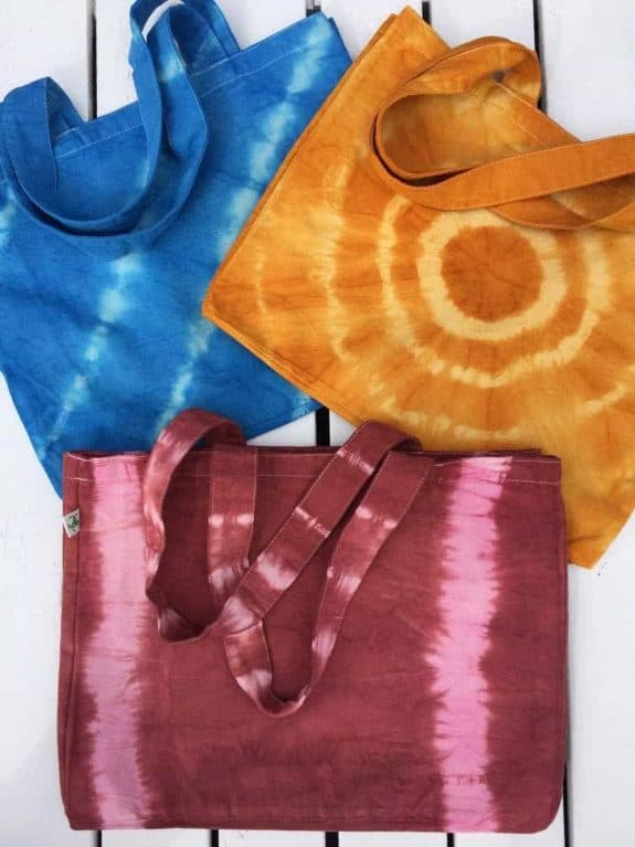 Sea Me Happy beach bag tie dye