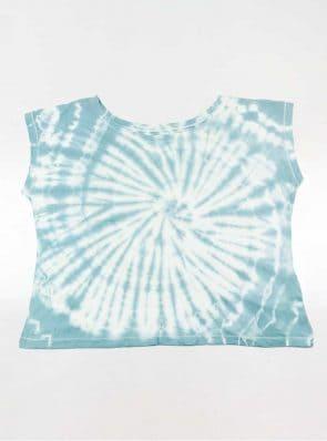 Off shoulder T-shirt tie-dye blue, Sea Me Happy