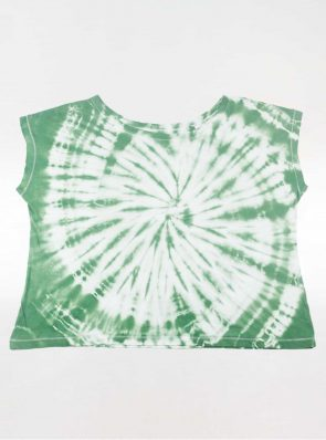 Off shoulder T-shirt tie-dye green, Sea Me Happy