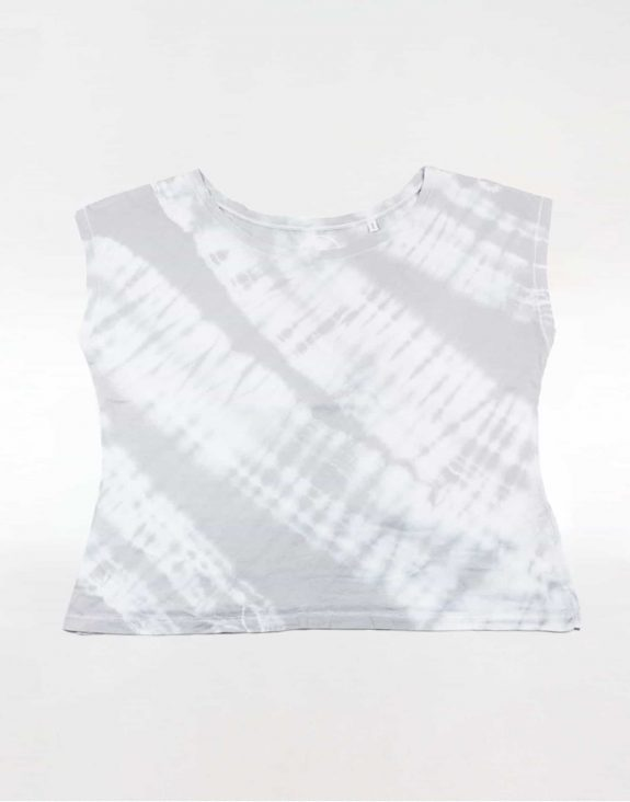 Off shoulder T-shirt tie-dye grey, Sea Me Happy