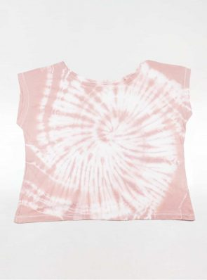Off shoulder T-shirt tie-dye oldrose, Sea Me Happy