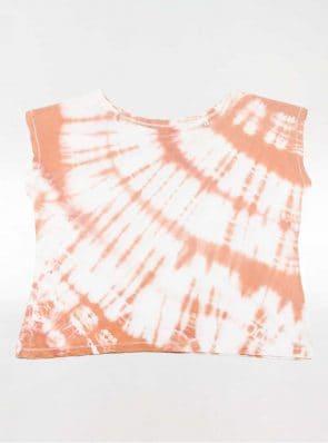 Off shoulder T-shirt tie-dye orange, Sea Me Happy