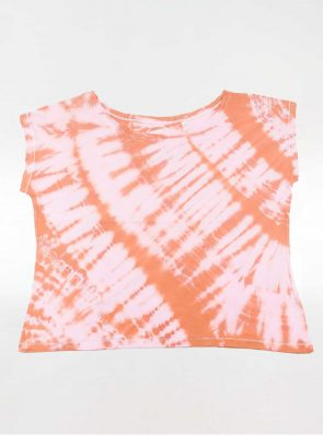 Off shoulder T-shirt tie-dye orange, Sea Me Happy