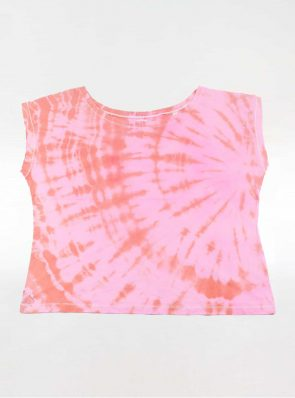 Off shoulder T-shirt tie-dye pink/orange, Sea Me Happy
