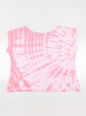Off shoulder T-shirt tie-dye pink, Sea Me Happy