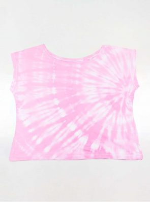 Off shoulder T-shirt tie-dye pink, Sea Me Happy