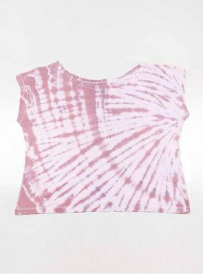 Off shoulder T-shirt tie-dye purple/bordeaux, Sea Me Happy