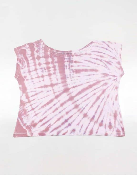 Off shoulder T-shirt tie-dye purple/bordeaux, Sea Me Happy