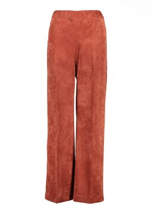 Sea Me Happy wide rib gypsy pants brick. Made in Belgium