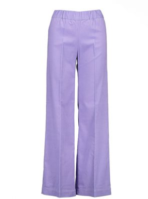 Sea Me Happy wide rib coton gypsy pants lilac. Made in Belgium.