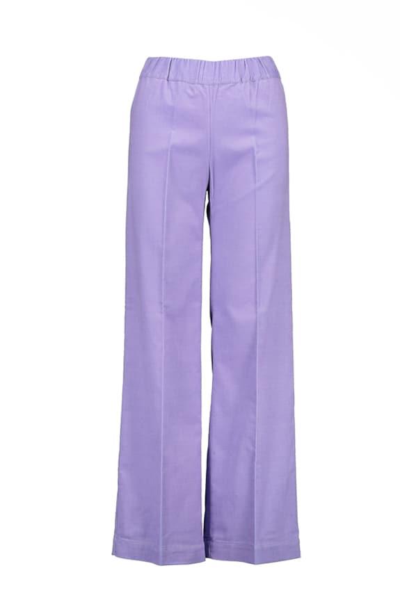 Sea Me Happy wide rib coton gypsy pants lilac. Made in Belgium.