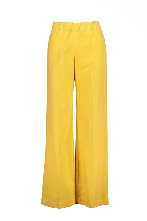 Sea Me Happy wide rib coton gypsy pants yellow Made in Belgium